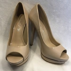 Aldo genuine leather nude 👡 open toed heels